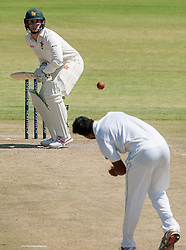 Zimbabwe batsman Peter Moor in action during the third day of the 100th test match for Zimbabwe played in a series of two matches with Sri Lanka at Harare Sports Club 31 October 2016.