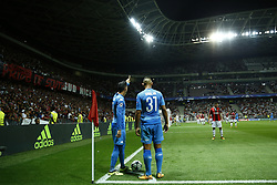 August 22, 2017 - Nice, France - Jose Maria Callejon of Napoli and Faouzi Ghoulam of Napoli  during the UEFA Champions League play-off football match between Nice and Napoli at the Allianz Riviera stadium in Nice, southeastern France, on August 22, 2017. (Credit Image: © Matteo Ciambelli/NurPhoto via ZUMA Press)