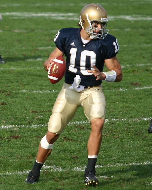 Notre Dame vs. Michigan<br /> Brady Quinn, Quarterback