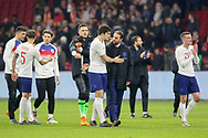 England Manager Gareth Southgate congratulates England Harry Maguire at the end of the match during the Friendly match between Netherlands and England at the Amsterdam Arena, Amsterdam, Netherlands on 23 March 2018. Picture by Phil Duncan.