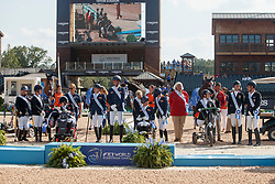 Team GBR, Team NED, Team GER, <br /> World Equestrian Games - Tryon 2018<br /> © Hippo Foto - Sharon Vandeput<br /> 21/09/2018