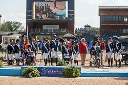 Team GBR, Team NED, Team GER, <br /> World Equestrian Games - Tryon 2018<br /> © Hippo Foto - Sharon Vandeput<br /> 21/09/2018