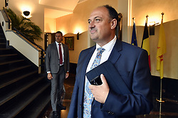 August 3, 2017 - Namur, BELGIUM - Newly appointed Walloon Minister President Willy Borsus pictured during a meeting of the Walloon Government in Jambes, Namur, Thursday 03 August 2017. The new Government formed by MR and cdH is having its first assembly. BELGA PHOTO ERIC LALMAND (Credit Image: © Eric Lalmand/Belga via ZUMA Press)