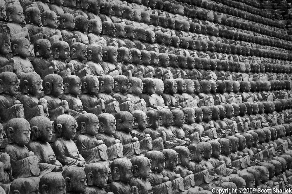 1,000 Buddhas in Honolulu, Hawaii.