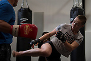 DALLAS, TX - MAY 11:  Rose Namajunas holds an open workout for the fans and media at Fortis MMA on May 11, 2017 in Dallas, Texas. (Photo by Cooper Neill/Zuffa LLC/Zuffa LLC via Getty Images) *** Local Caption *** Rose Namajunas