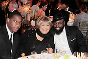 New York, New York- June 6: (L-R) Recording Artists Leon Bridges, Mavis Staples and Black Thought attend the 2017 Gordon Parks Foundation Awards Dinner celebrating the Arts & Humanitarianism held at Cipriani 42nd Street on June 6, 2017 in New York City.   (Photo by Terrence Jennings/terrencejennings.com)