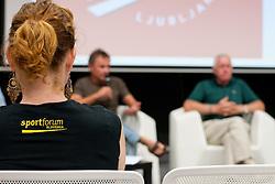 na okrogli mizi 1. Slovenskega smucarskega forumu v organizaciji SportForum Slovenija, September 14, 2011, Kristalna Palaca, BTC City, Ljubljana, Slovenija. (Photo by Matic Klansek Velej / Sportida)