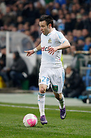 FOOTBALL - FRENCH CHAMPIONSHIP 2011/2012 - L1 - OLYMPIQUE DE MARSEILLE v LILLE OSC - 15/01/2012 - PHOTO PHILIPPE LAURENSON / DPPI - MATHIEU VALBUENA (OM)