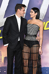 Isaac Carew and Dua Lipa attending the World Premiere of Alita: Battle Angel, held at the Odeon Leicester Square in London. Photo credit should read: Doug Peters/EMPICS