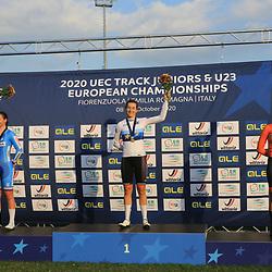 10-10-2020: Wielrennen: EK Baan: Fiorenzurola<br />Daniquwe Hengveld pakt medaille op EK Baan