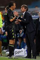 "Luca Banti, Antonio Conte Juventus,<br /> Genova 24/8/2013<br /> Stadio ""Luigi Ferraris"" <br /> Football Calcio 2013/2014 Serie A <br /> Sampdoria - Juventus <br /> Foto Marco Bertorello Insidefoto"