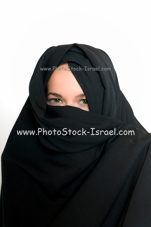 Female model with a veil