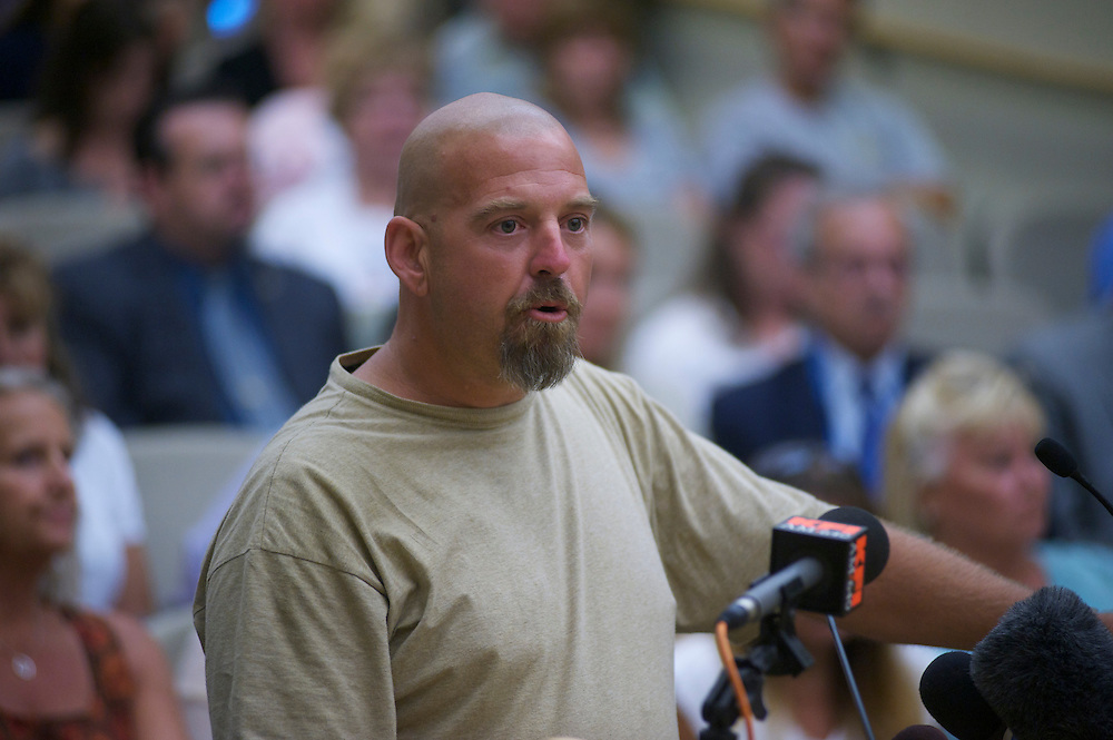 Mark Turgeon, during a Fullerton City Council Meeting where public comments dominated the session.  Discussed was the death of Kelly Thomas, a mentally ill homeless man that died after an altercation with Fullerton Police. During the months since, two FPD officers have been charged with 2nd dgree murder and involuntary manslaughter and ar ecall campaign has begun agains three seated council members.