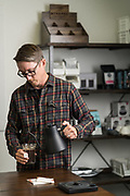 Steeped Coffee CEO Josh Wilbur poses for a portrait at Steeped Coffee HQ in Scotts Valley, California, on August 1, 2019. (Stan Olszewski for Silicon Valley Business Journal)