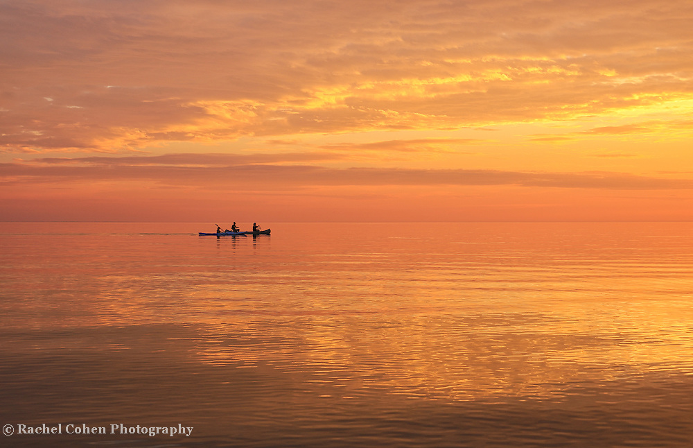 """""""Life is But a Dream""""<br /> <br /> A beautiful and peaceful sunset on Lake Michigan in the Upper Peninsula. The water was smooth as glass as kayakers paddled by heading into the night!"""