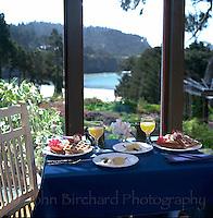 Breakfast at the Allegria Inn, Mendocino, CA..CD scan from med. format chrome.  © John Birchard