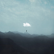 Misty mountains with cloud para glider<br /> Prints --> http://bit.ly/CloudGlidingPrint
