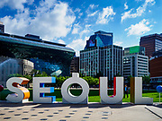 SEOUL, SOUTH KOREA: The front of Seoul City Hall and Seoul Plaza in Seoul, South Korea.       PHOTO BY JACK KURTZ