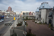 Gertrude Zachary's home in downtown Albuquerque is seen from a nearby rooftop...CREDIT: Steven St. John for The Wall Street Journal