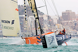 © Sander van der Borch.Alicante, 11 October 2008. Start of the Volvo Ocean Race. Ericcson 3 rounded the bottom mark in fourth position..