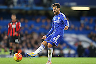 Cesc Fabregas of Chelsea passing the ball. Barclays Premier league match, Chelsea v AFC Bournemouth at Stamford Bridge in London on Saturday 5th December 2015.<br /> pic by John Patrick Fletcher, Andrew Orchard sports photography.