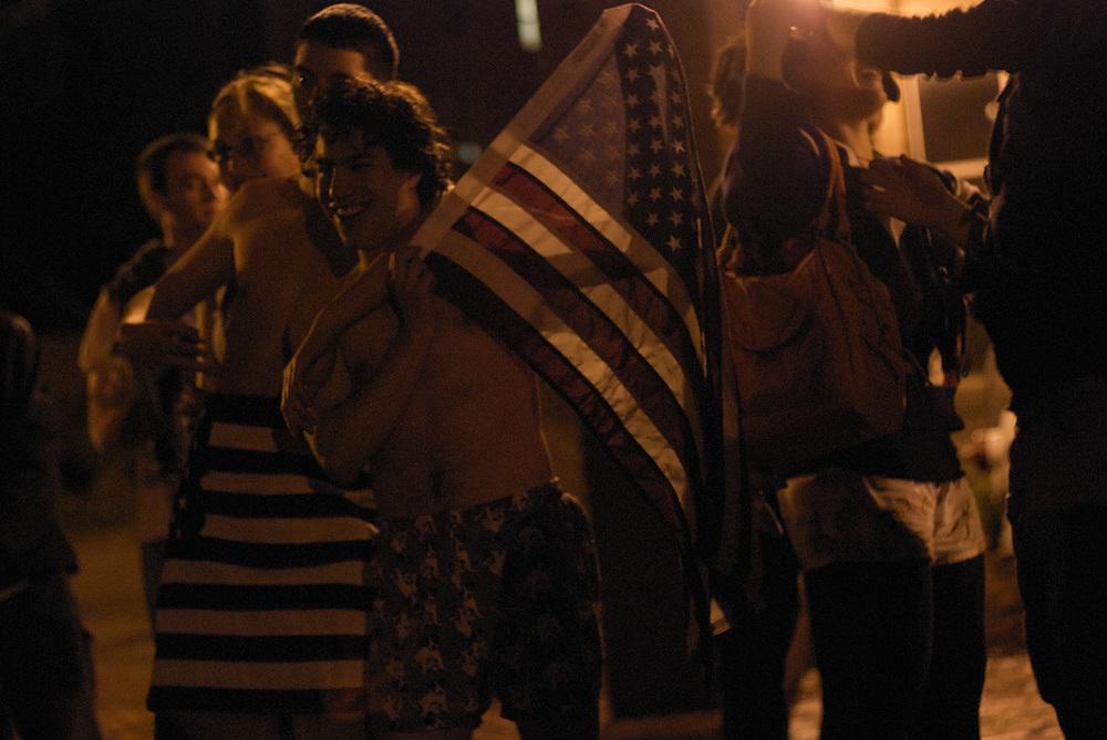 Students at Tufts University celebrate the election of Barack Obama. Somerville, Massachusetts.