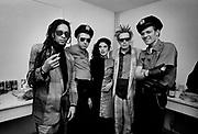 Big Audio Dynamite 1986  Medicine Show Video Shoot. John Lydon, Joe Strummer, Don Letts, Audrey, Paul Simonon