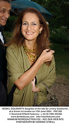 ISOBEL GOLDSMITH daughter of the late Sir Jimmy Goldsmith, at a dinner in London on 17th June 2004.  PWI 282