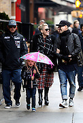 Dec. 2, 2015 - New York City, NY, USA - <br /> <br /> Singer Pink out in Tribeca with her husband Carey Hart (L) and her daughter Willow Sage Hart (and a friend on the right) <br /> in New York City  <br /> ©Exclusivepix Media