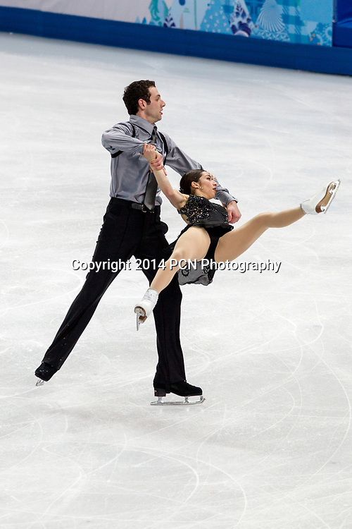 Marissa Castelli and Simon Shnapir (USA) competing in the Figure Skating Pairs Free Skating at the Olympic Winter Games, Sochi 2014