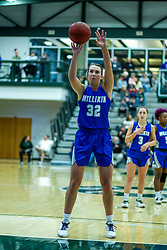 BLOOMINGTON, IL - January 04:  Bailey Coffman during a college women's basketball game between the IWU Titans  and the Millikin Big Blue on January 04 2020 at Shirk Center in Bloomington, IL. (Photo by Alan Look)