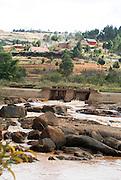 Madagascar, Analamanga region, River landscape near Antananarivo,