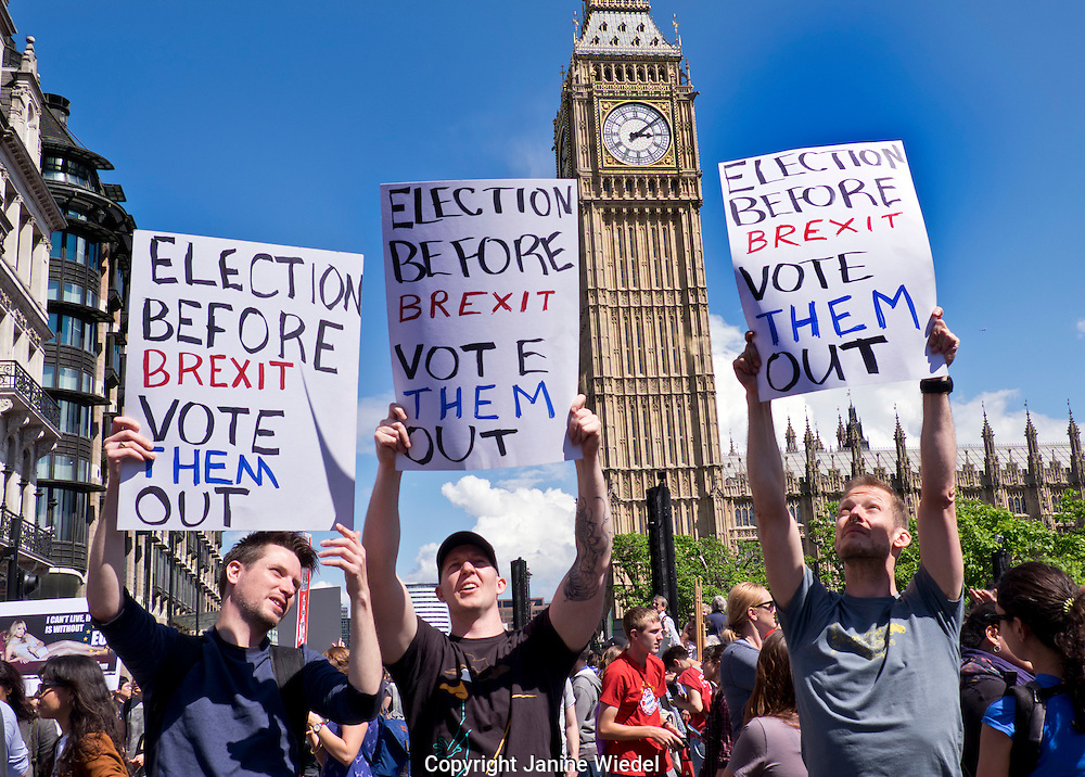 Forty thousand people took part in The March for Europe in London. on 2 July 2016.  Following the results of the Brexit Referendum there was a pro-Europe turnout angered by the decission to leave.