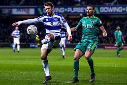 Luke Freeman of Queens Park Rangers takes on Daryl Janmaat of Watford - Mandatory by-line: Robbie Stephenson/JMP - 15/02/2019 - FOOTBALL - Loftus Road - London, England - Queens Park Rangers v Watford - Emirates FA Cup fifth round proper