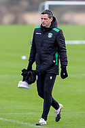 Hibernian FC manager, Jack Ross during the training session at Hibernian Training Centre, Ormiston, Scotland on 27 November 2020, ahead of their Betfred Cup match against Dundee.