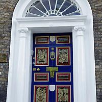 Europe, Ireland, Dublin. Distinctive doorway of Dublin's Fitzwilliam Square neighborhood.