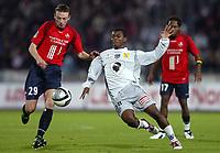 Fotball<br /> Frankrike 2004/05<br /> Lille v Bastia<br /> 16. oktober 2004<br /> Foto: Digitalsport<br /> NORWAY ONLY<br /> STEPHANE DUMONT (LIL) / DJIBRIL SIDIBE (BAS)