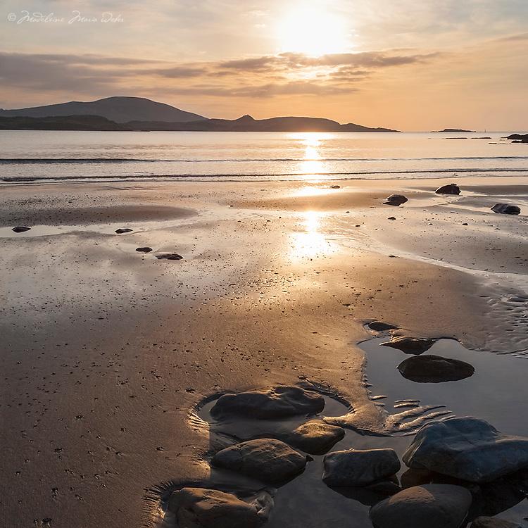 White Strand overlooking to Valentia island & Begenish island, County Kerry, Ireland