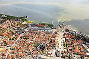 Nederland, Zeeland, Walcheren, 09-05-2013; Vlissingen, binnenstad met Grote of Sint-Jacobskerk. Westerschelde.<br /> Flushing, town centre and Western Scheldt.<br /> luchtfoto (toeslag op standard tarieven)<br /> aerial photo (additional fee required)<br /> copyright foto/photo Siebe Swart