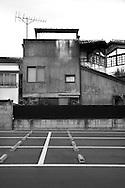 Parking lot behind Tokyo University.