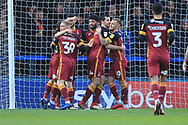 GOAL Nathaniel Knight Percival celebrates scoring 0-1 during the EFL Sky Bet League 1 match between Rochdale and Bradford City at Spotland, Rochdale, England on 29 December 2018.