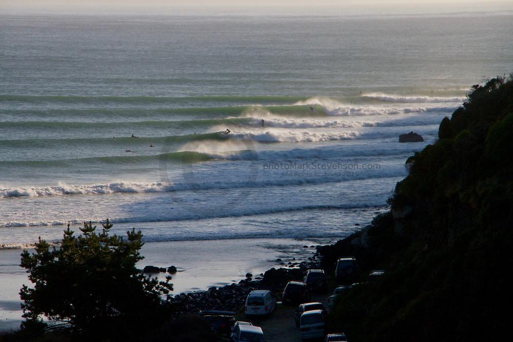 Great waves in Dunedins north coast beaches at Whareakeake aka Murders Aug 2020