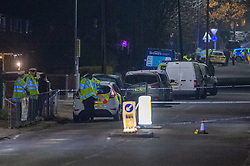 © Licensed to London News Pictures. 02/12/2019. Loughton, UK. Forensic investigators on Wallingale Road.<br /> A murder investigation has been launched after a 12-year-old boy died and a number of other pedestrians were injured during a hit-and-run incident near a school on Wallingale Road, Loughton. Photo credit: Peter Manning/LNP