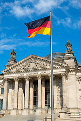 The German Reichstag parliament building in Berlin Germany