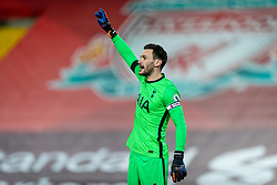 LIVERPOOL, ENGLAND - Wednesday, December 16, 2020: Tottenham Hotspur's goalkeeper Hugo Lloris during the FA Premier League match between Liverpool FC and Tottenham Hotspur FC at Anfield. Liverpool won 2-1. (Pic by David Rawcliffe/Propaganda)