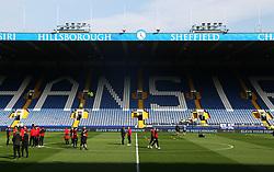 Sheffield United players check out the pitch before the match - Mandatory by-line:  Matt McNulty/JMP - 24/09/2017 - FOOTBALL - Hillsborough - Sheffield, England - Sheffield Wednesday v Sheffield United - Sky Bet Championship