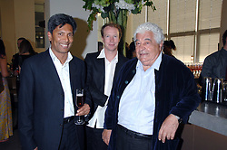 Left to right, DES GUNEWARDENA, NED CONRAN and ANTONIO CARLUCCIO at a dinner hosted by Vogue in honour of Antony Gormley held at the new Skylon restaurant at the refurbished Royal Festival Hall, South Bank, London on 22nd May 2007.<br /><br />NON EXCLUSIVE - WORLD RIGHTS