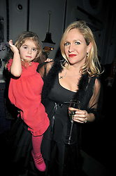 IMOGEN EDWARDS-JONES and her daughter ALLEGRA ALLEN at a party to celebrate the publication of 'In Bed With' held at the Artesian Bar,The Langham Hotel, 1c Portland Placeon 11th February 2009.