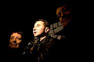 16022009. Paris. Jean-Luc Melenchon, Olivier Besancenot et Arlette Laguiller lors d'une manifestation de soutien aux grŽvistes des Antilles, de la Guyane et de la RŽunion. Bataille du leadership ˆ l'extme-gauche. Ombre de Besancenot sur l'extrme-gauche.