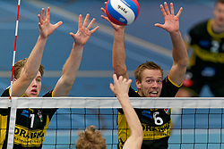 26-10-2019 NED: Talentteam Papendal - Draisma Dynamo, Ede<br /> Round 4 of Eredivisie volleyball - Rik van Solkema #7 of Dynamo, Nico Manenschijn #6 of Dynamo